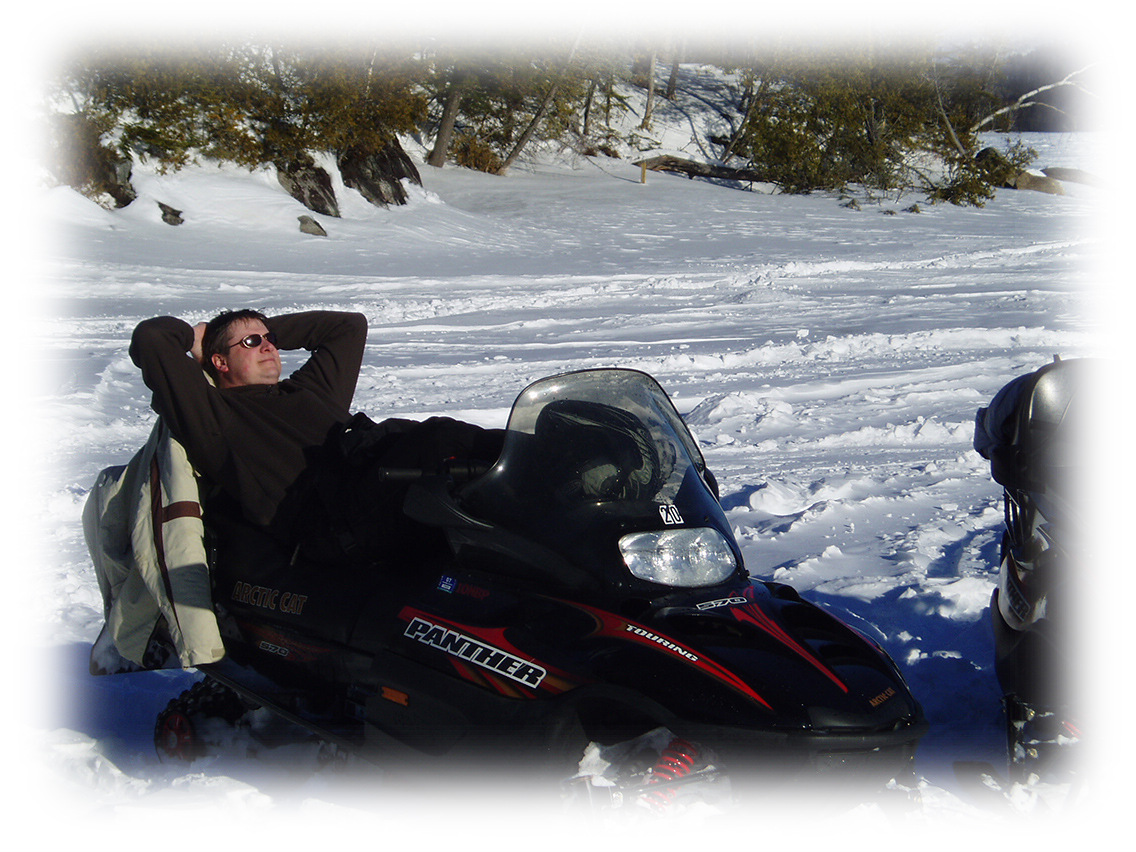 Snowmobile relax